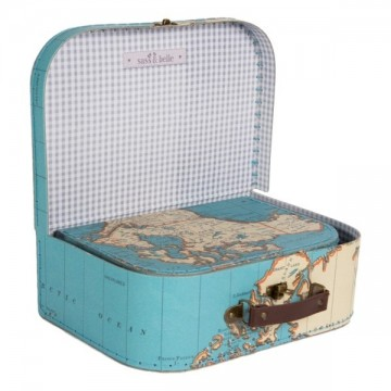 Sass and Belle Vintage Map suitcase