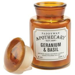 Geranium & Basil Apothecary Candle