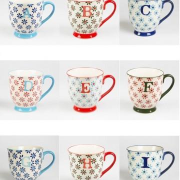 Alphabet Bohemian Mug Letter I