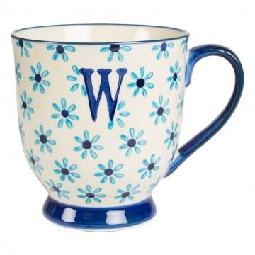 Alphabet Bohemia Mug Letter W