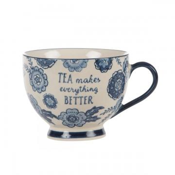 Blue flower mug