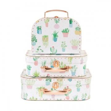 Cactus suitcases set of 3