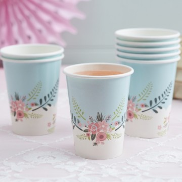 FLORAL PAPER CUPS