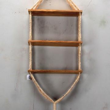 Wooden macrame shelves