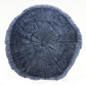 velvet cushion in blue