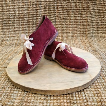Abalishop suede leather ankle boots (bordeaux)