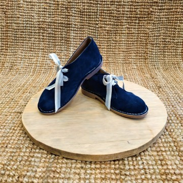 Abalishop suede leather ankle boots (blue)