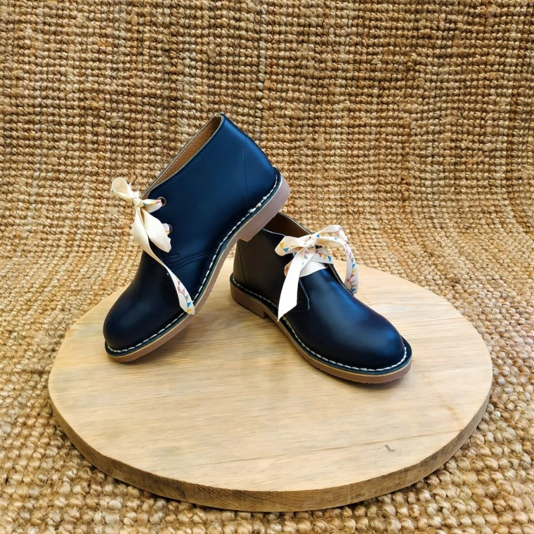 Abalishop leather ankle boots (blue)