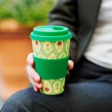 HAPPY AVOCADO BAMBOO COFFEE CUP