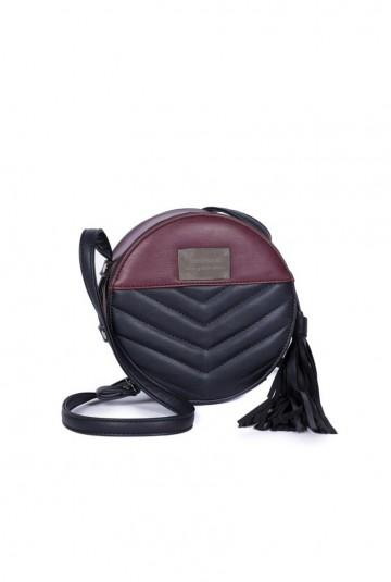 Tantrend two tone cross body bag (burgundy)