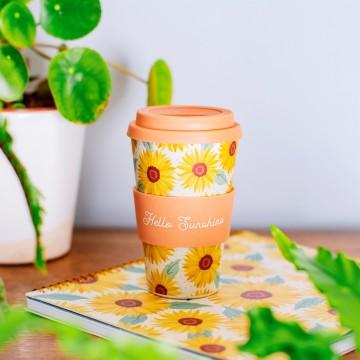 SUNFLOWERS BAMBOO COFFEE CUP