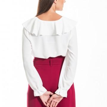 Chaton clothing Adele shirt with flills (ecru)