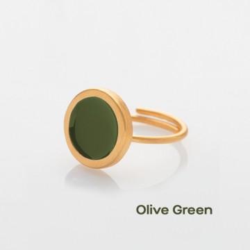 PRIGIPO Palette S ring (olive green)
