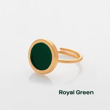 PRIGIPO Palette S ring (royal green)