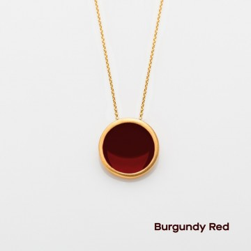 PRIGIPO Palette L necklace (burgundy red)