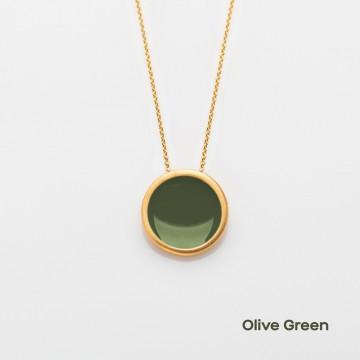 PRIGIPO Palette L necklace (olive green)