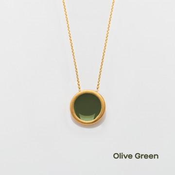 PRIGIPO Palette S necklace (olive green)