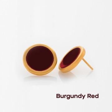 PRIGIPO Palette L earrings (burgundy red)