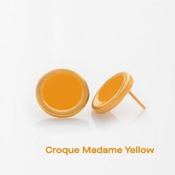 PRIGIPO Palette L earrings (croque madame yellow)