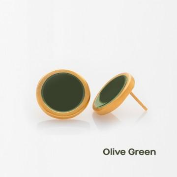 PRIGIPO Palette L earrings (olive green)