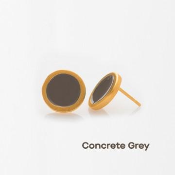 PRIGIPO Palette S earrings (concrete grey)