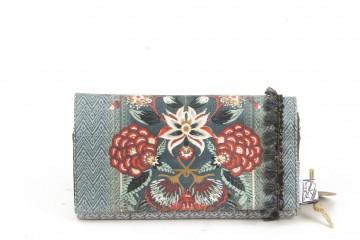 Lazydayz wallet (flowers blue)