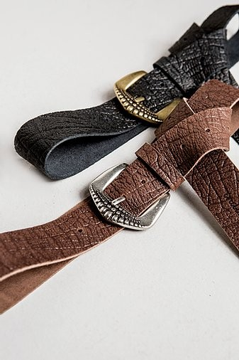 """Individual Art Leather """"Physical"""" leather belt (black)"""