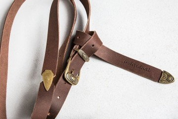 """Individual Art Leather """"Levels"""" leather belt (brown)"""