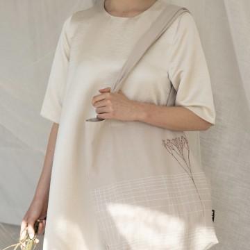 Tinne + Mia F.G. tote bag (Linen-beige)