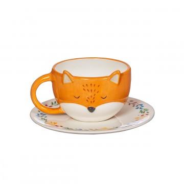 FINLEY FOX TEA CUP AND SAUCER SET
