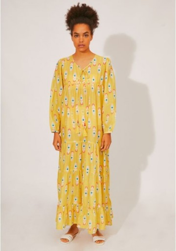 Compania Fantastica BEACHWEAR | LONG DRESS WITH SLIT AND ROCKET PRINT