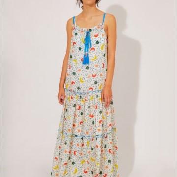 Compania Fantastica BEACHWEAR | LONG STRAP DRESS WITH CHILI PRINT