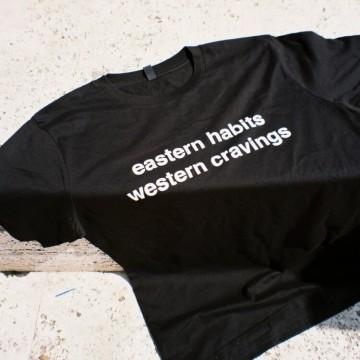 Iddi Eastern habits, western cravings t-shirt (black)