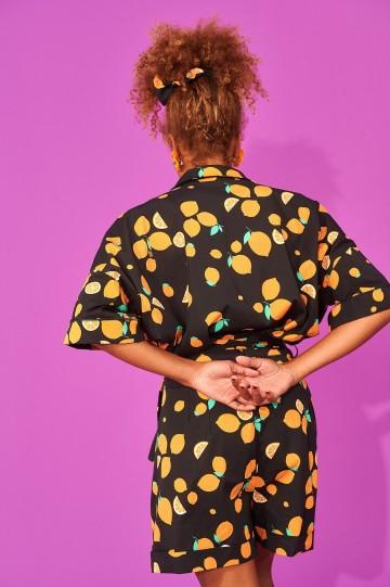 Karavan clothing Siena culottes (black lemons)