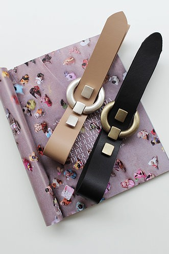 Individual art leather Take on me leather belt