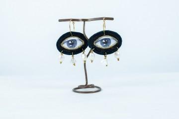 Nefeli Karyofilli Deep blue earrings