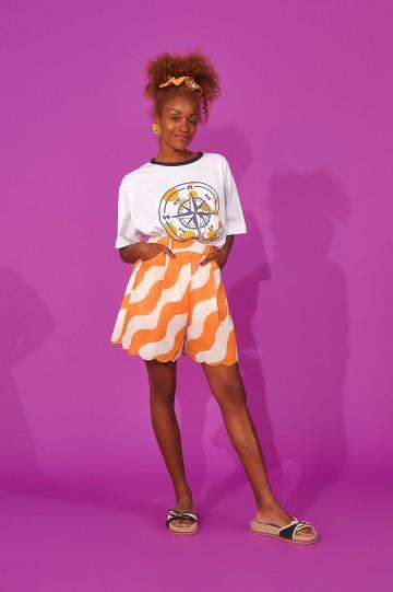 Karavan clothing Jaeyoung culottes (curly tangerine/ivory)